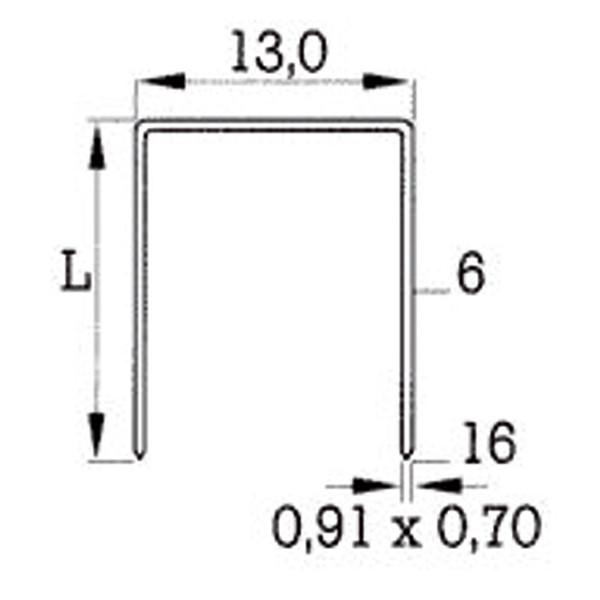 Heftklammer Typ380 (A)